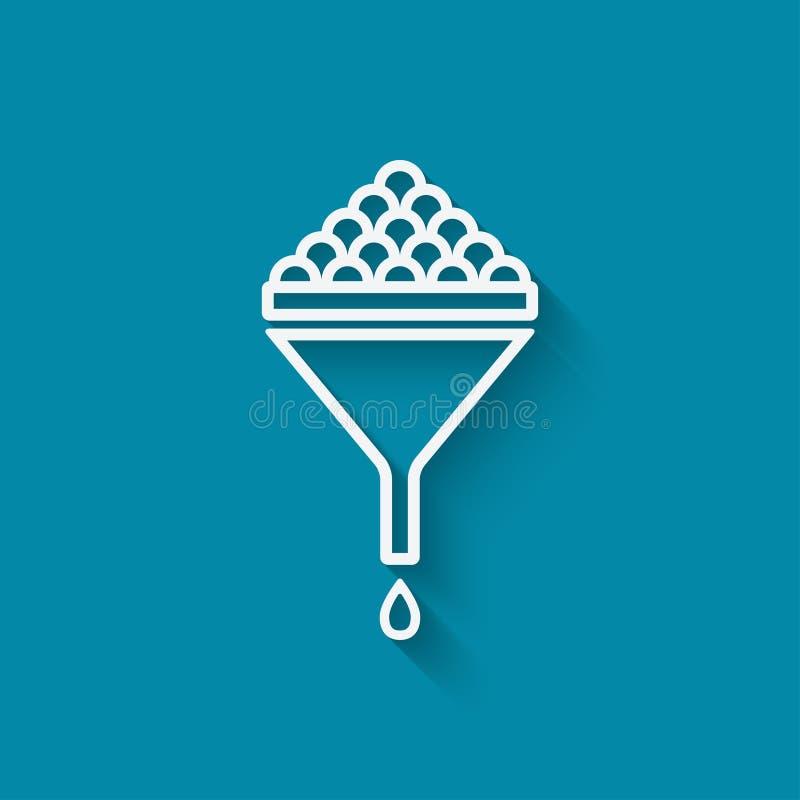 Filter data symbol vector illustration