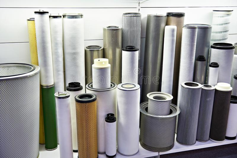 Filter elements for industrial stock image