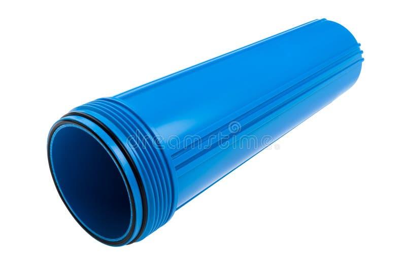 Filter för rent vatten på vit royaltyfria foton