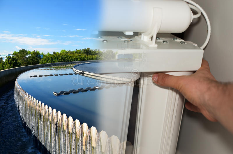 Filter för vattenrening royaltyfria foton