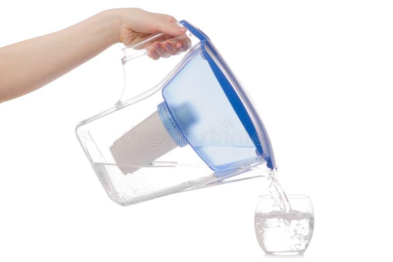 Filter für Wasserglas lizenzfreie stockbilder