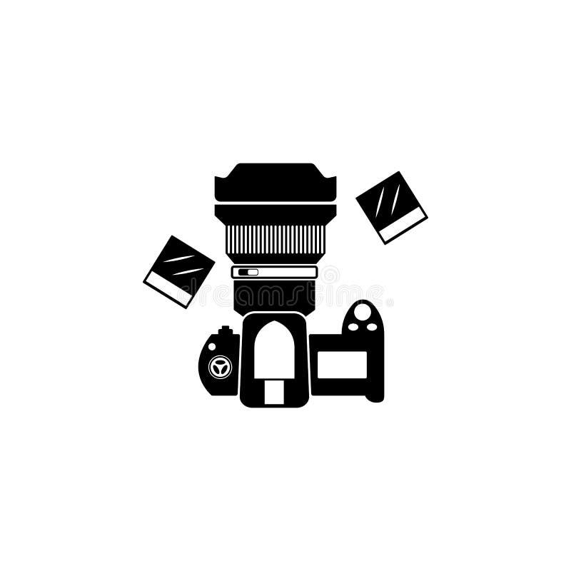 Filter, Linsenikone Element von Fotoausrüstungsikonen Erstklassige Qualitätsgrafikdesignikone Zeichen und Symbolsammlungsikone fü stock abbildung