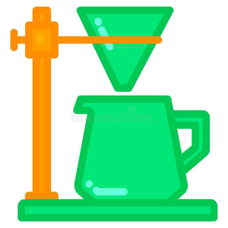 Filterkottesymbol med den fyllda linjen stil vektor illustrationer