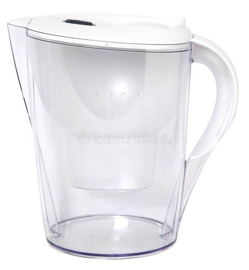 Filterkruik voor het schoonmaken van water voor geïsoleerde reiniging royalty-vrije stock afbeelding