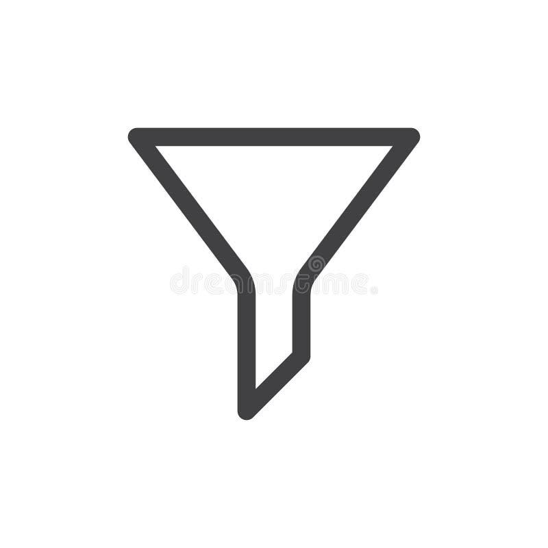 Filtern Sie Linie einfache Ikone, Entwurfsvektorzeichen stock abbildung