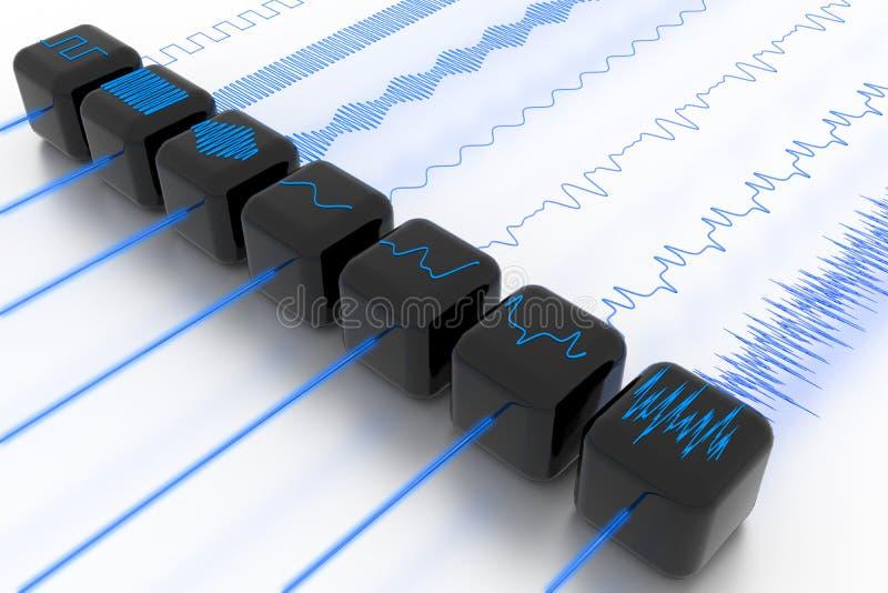 filterwave vektor illustrationer