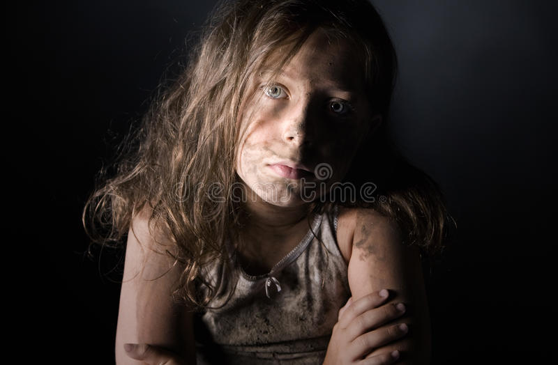 Download Filthy Child stock image. Image of home, brown, long - 25709407