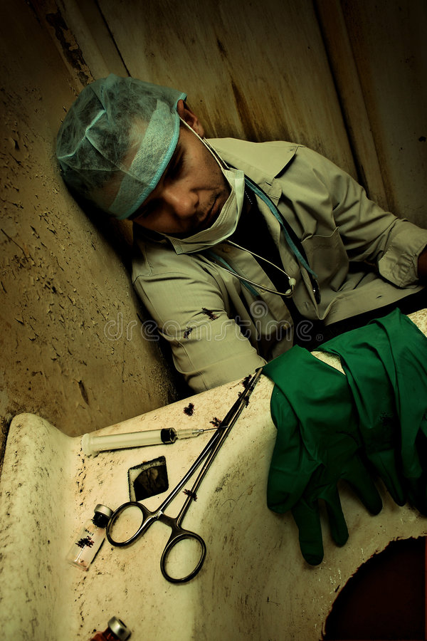 Filthy Medical scene royalty free stock photos