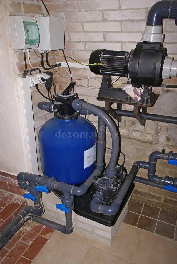 filtracyjnego basenu pływacki system zdjęcie stock