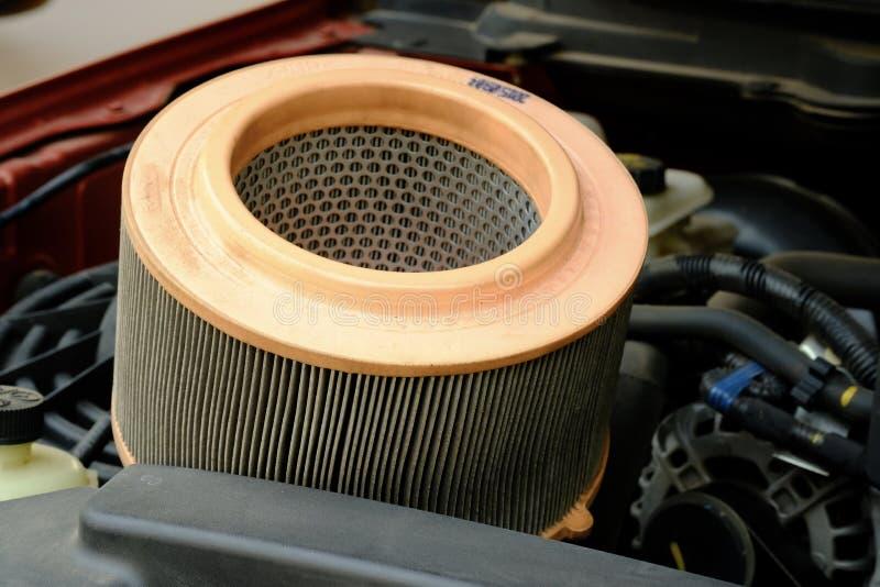Filtre à air de voiture de moteur diesel images libres de droits