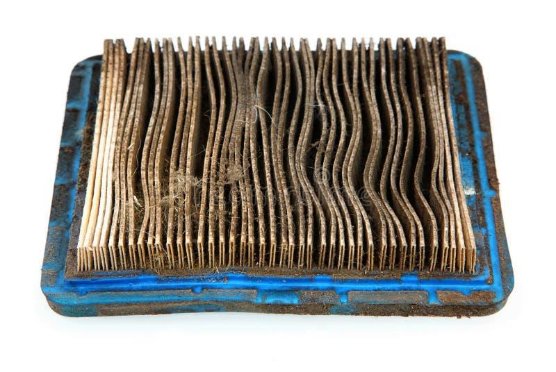 Filtre à air sale de tondeuse à gazon photos stock