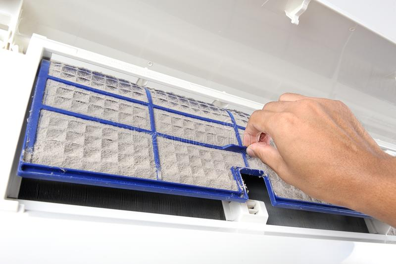 Filtre de climatiseur image stock