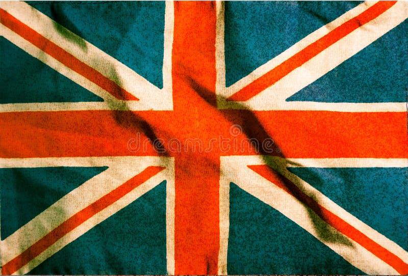 Filtrerad tappninggrunge, Storbritannien flagga royaltyfri foto