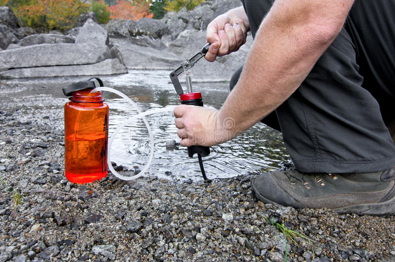 Filtrerend Water royalty-vrije stock foto's