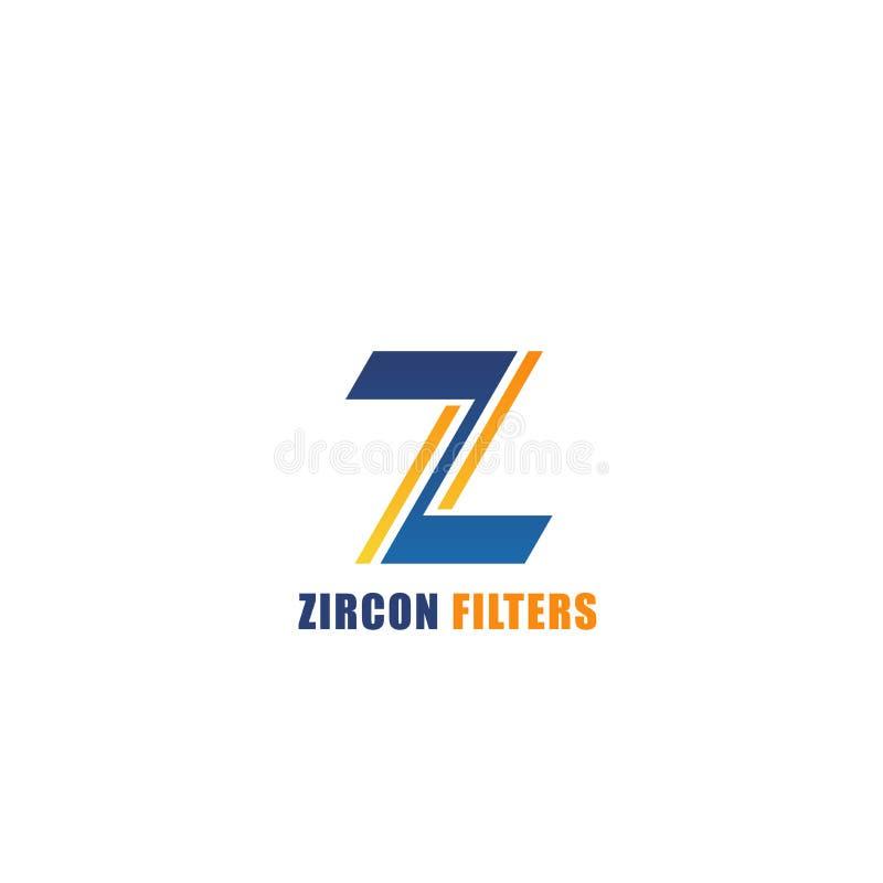 Filtres de zircon d'emblème de vecteur illustration de vecteur