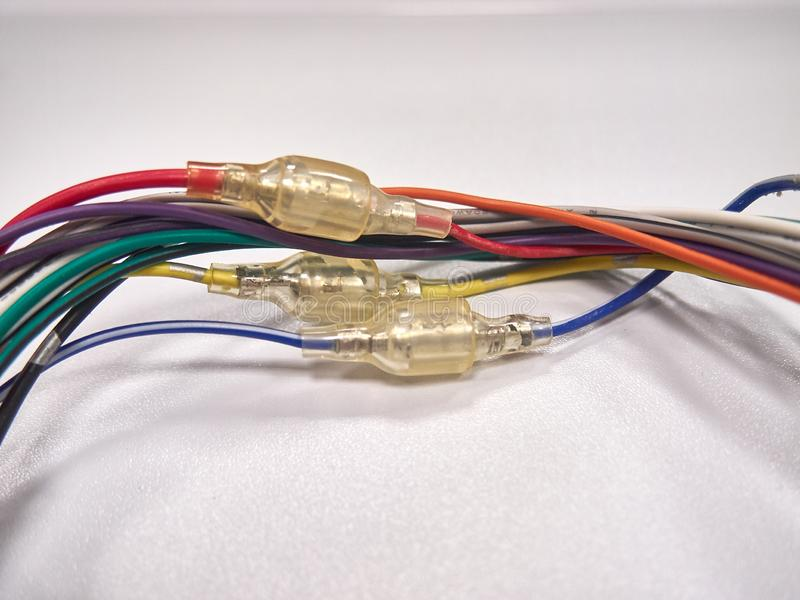Filtres et connecteurs audio terminaux et accessoires photos stock