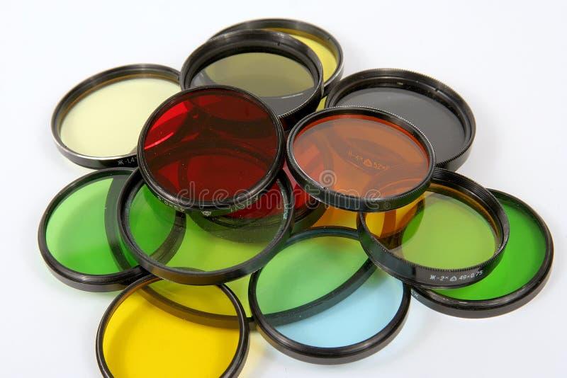 Filtres optiques photographie stock libre de droits