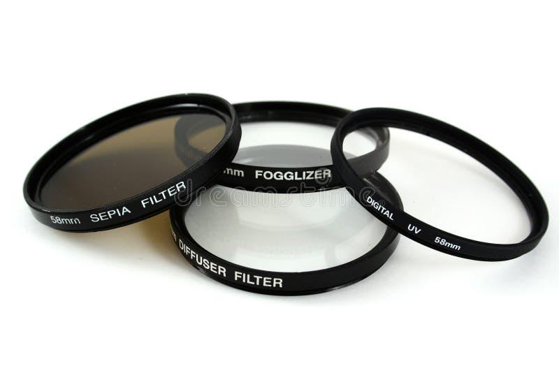 Filtri dalla macchina fotografica immagine stock
