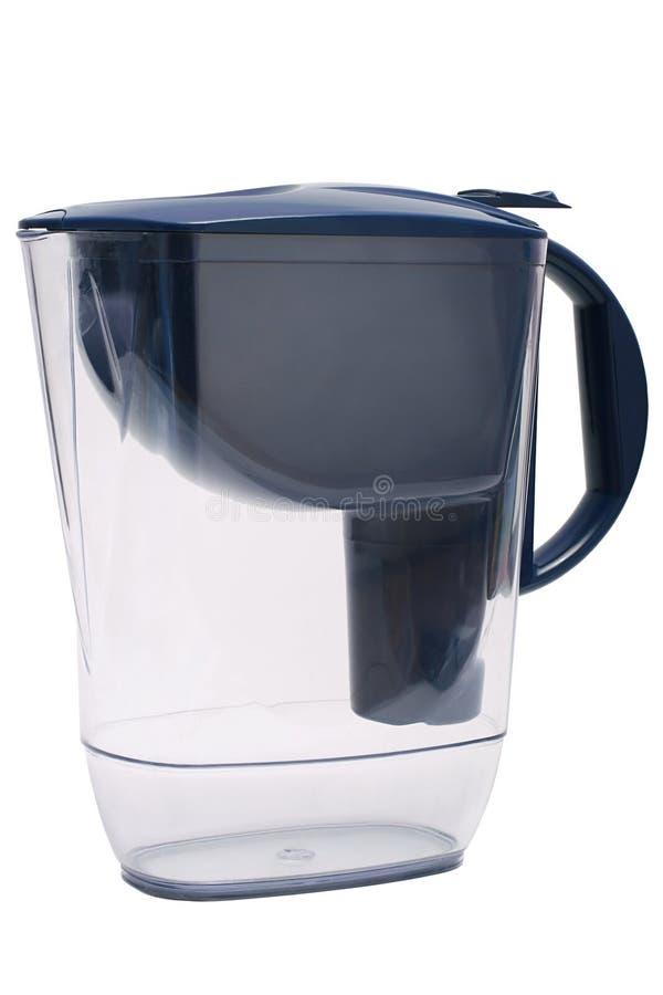 Filtro blu scuro per il trattamento dell'acqua immagine stock