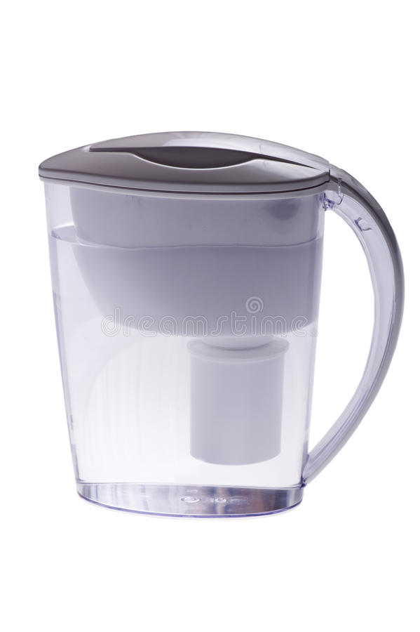 Filtro da acqua su bianco fotografia stock