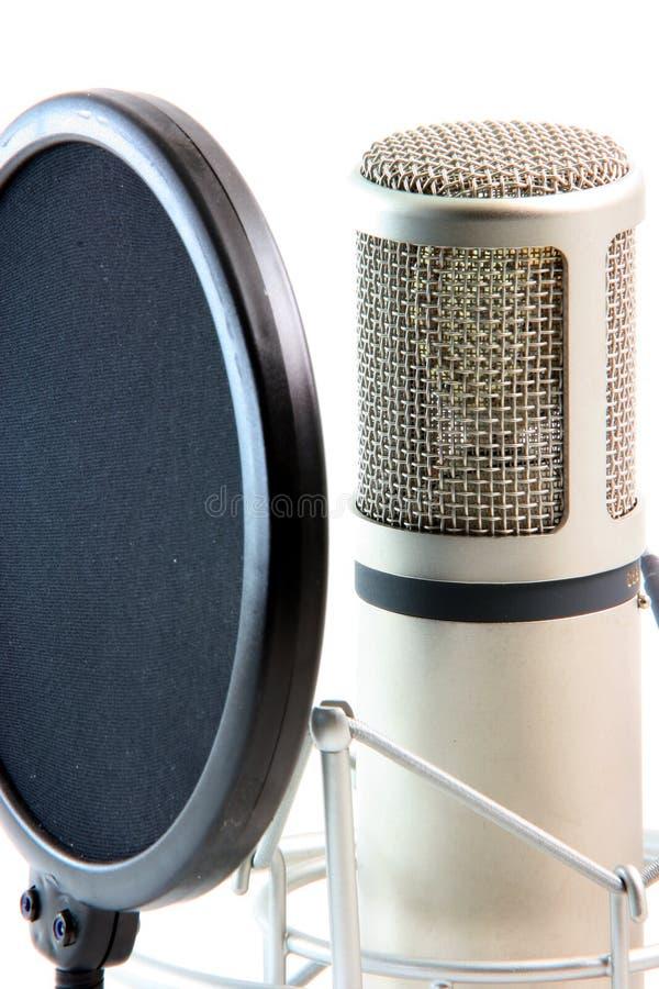 Filtro dal microfono fotografie stock libere da diritti
