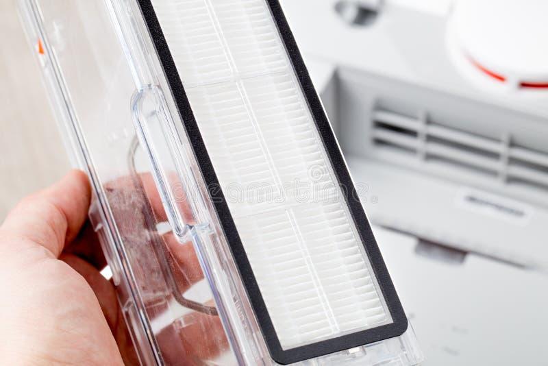 Filtro de Hepa para el aspirador imágenes de archivo libres de regalías