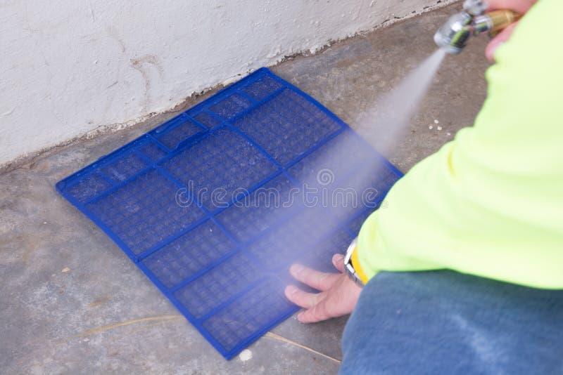 Filtro del acondicionador de aire que se lava fotos de archivo libres de regalías