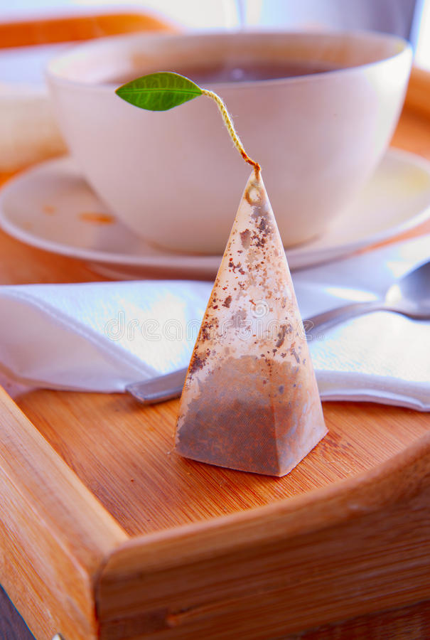 Filtro del té foto de archivo libre de regalías