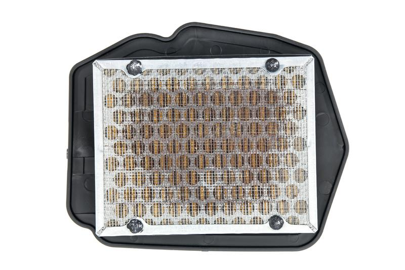 Filtro dell'aria per il motociclo isolato su fondo bianco I filtri dell'aria del motociclo hanno isolato immagine stock