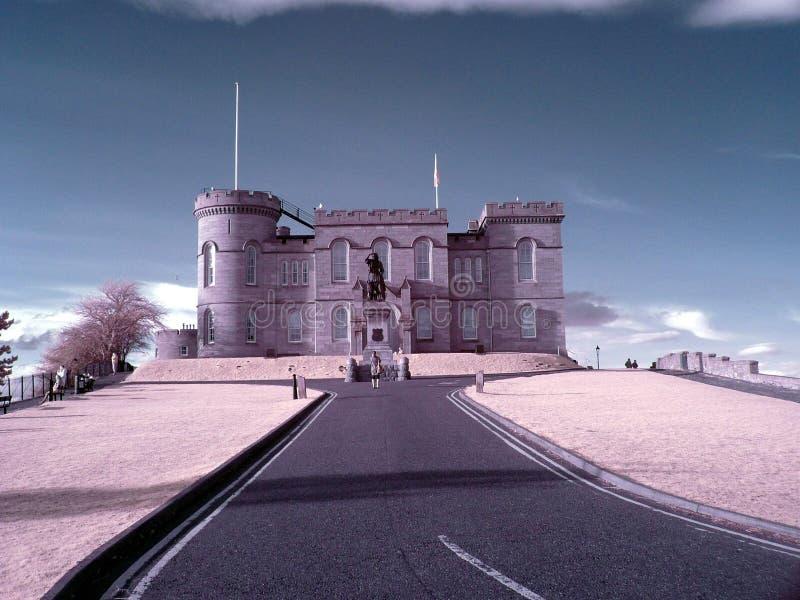 Filtro do IR do castelo de Inverness Escócia fotos de stock