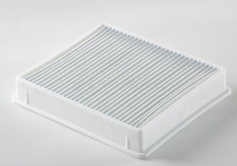 filtro sucio del polvo cierre del filtro del aspirador para arriba fotografía de archivo