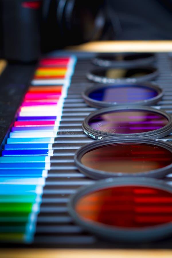 Filtros de cor diferentes da fotografia fotografia de stock royalty free