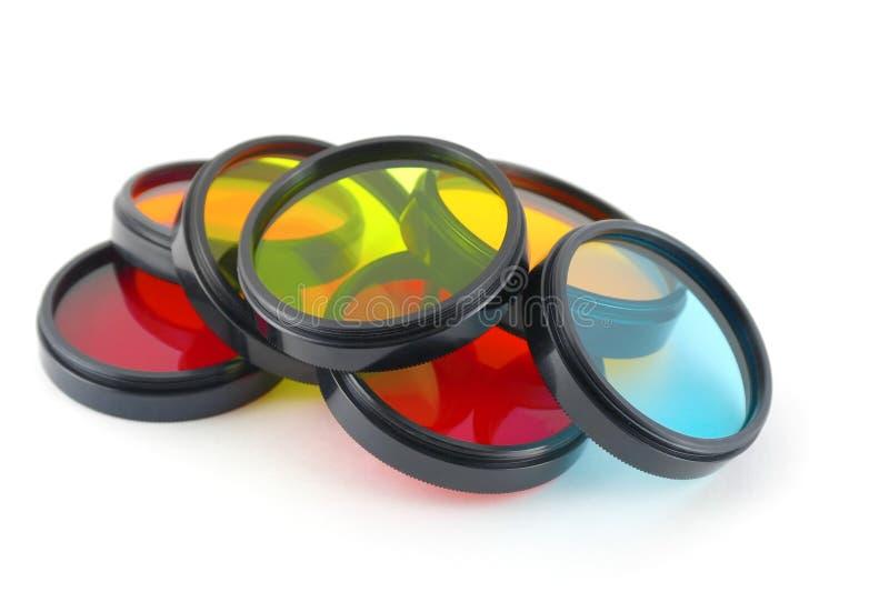 Filtros de cor para lentes fotografia de stock royalty free