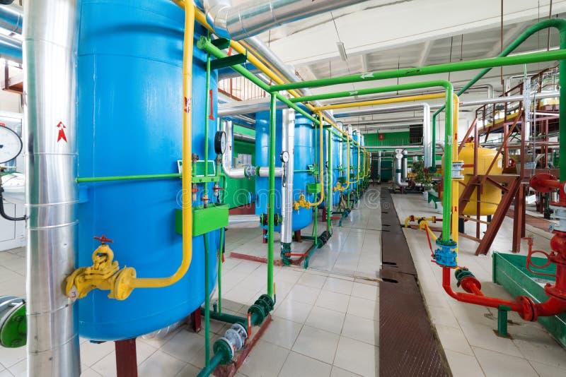 Filtros para el tratamiento de aguas industrial imagen de archivo libre de regalías