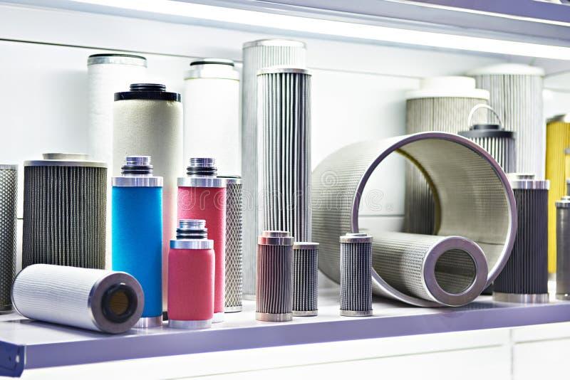 Filtrowi elementy dla przemysłowego i nafcianego gazu obrazy royalty free