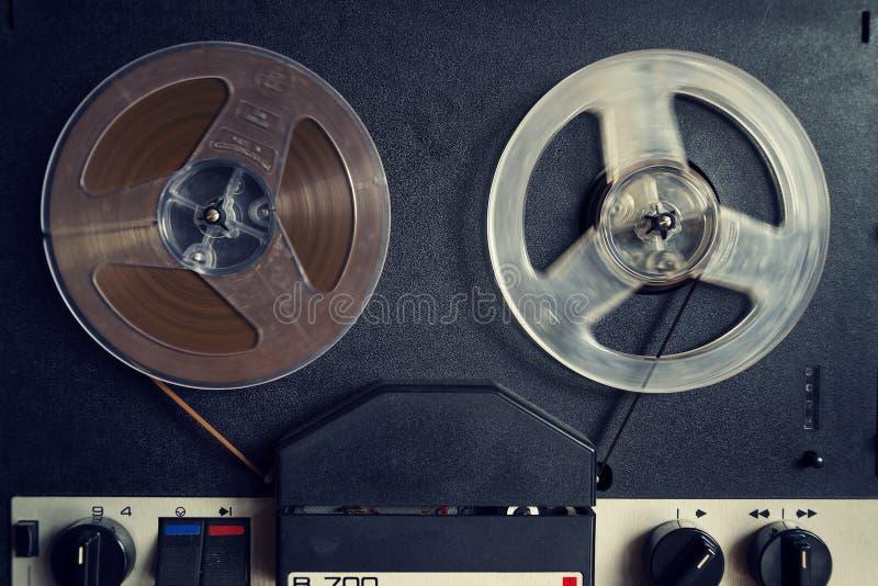 Filtrujący rocznika obrazek rolka audio pisak obrazy royalty free