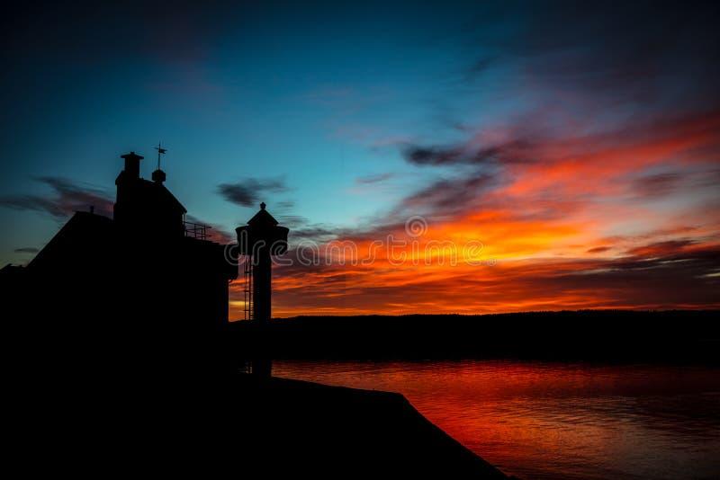 Filtvet灯塔,挪威 免版税库存照片