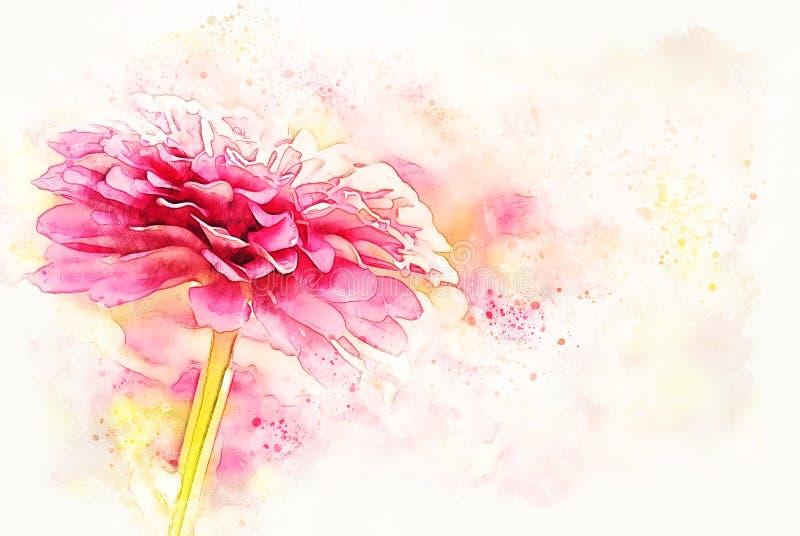 Fim abstrato acima da flor cor-de-rosa bonita que floresce no parque público ilustração do vetor