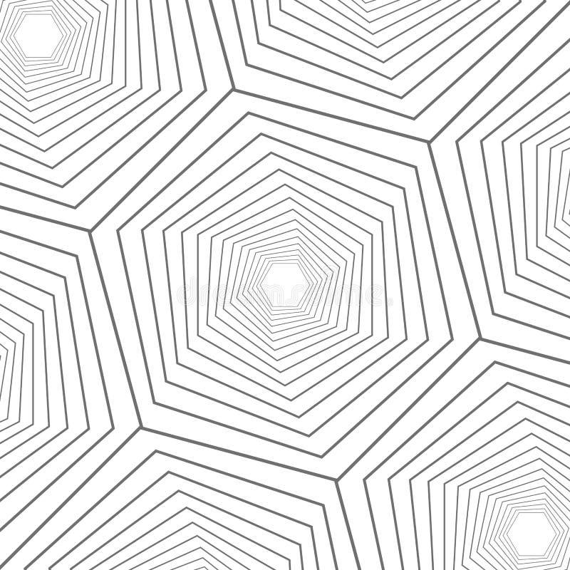 Fim abstrato acima do projeto moderno do teste padrão geométrico do hexágono ilustração stock