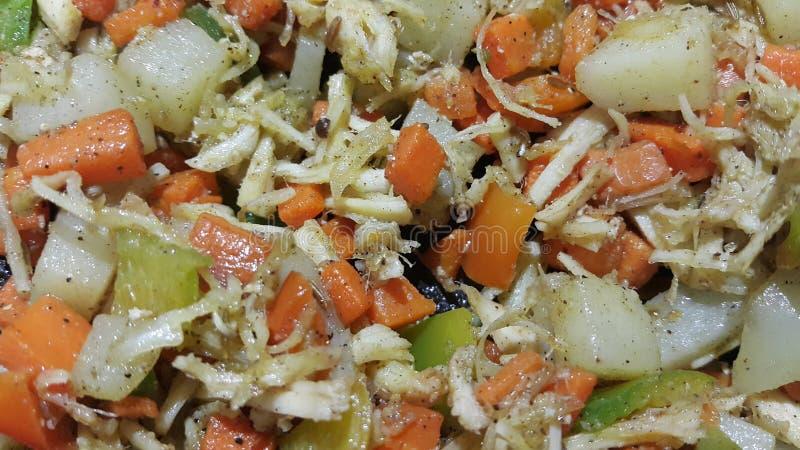 fim acima da vista macro dos legumes misturados para o uso do fundo foto de stock