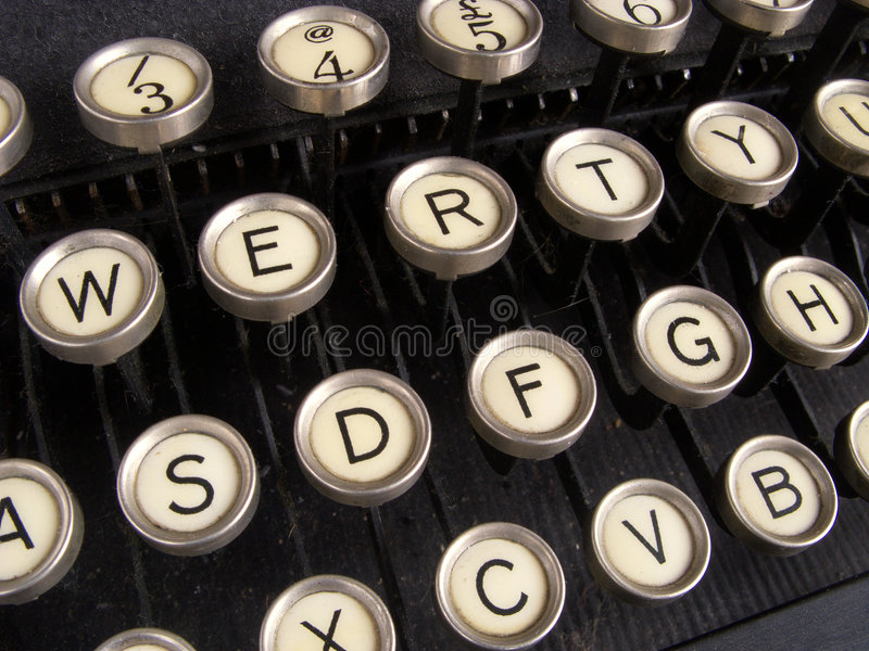Fim acima de chaves da máquina de escrever. fotografia de stock