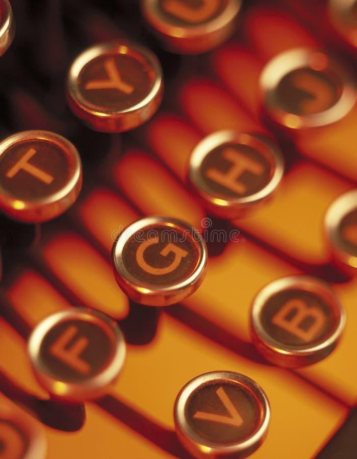 Fim acima de chaves da máquina de escrever fotografia de stock