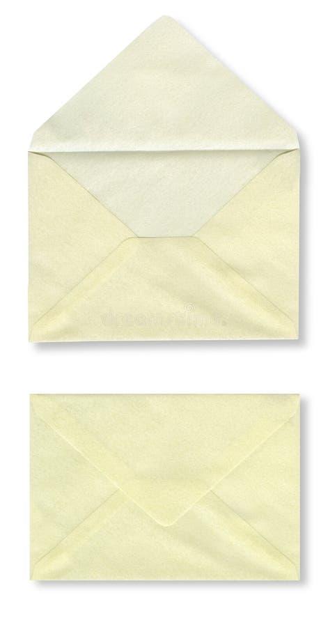 Fim-acima de dois envelopes. fotos de stock