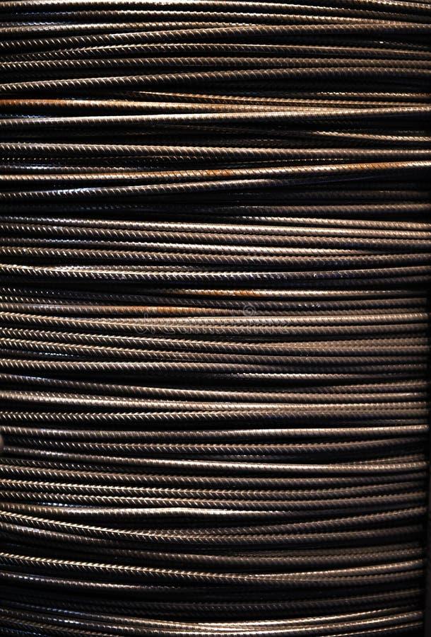 Fundo da corda de fio de aço fotografia de stock royalty free