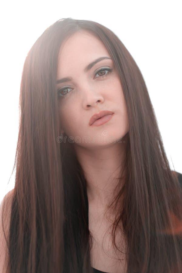 Fim acima Retrato de uma mulher bem sucedida nova fotos de stock royalty free
