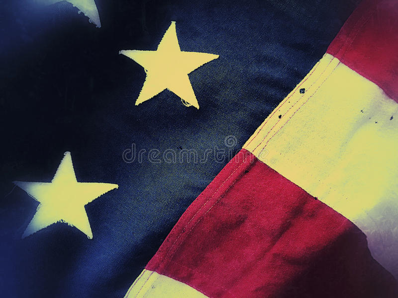 Fim americano da bandeira do batalhão acima fotos de stock