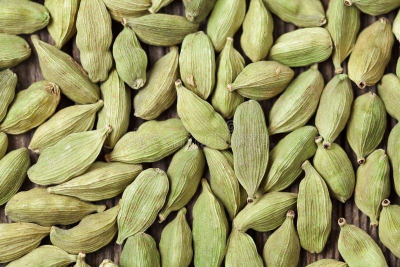 Fim asiático da especiaria do alimento super verde do cardamomo acima imagens de stock royalty free