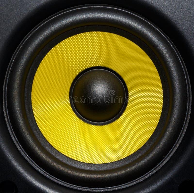 Fim audio do orador acima imagens de stock royalty free