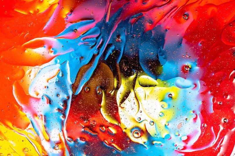 Fim bonito acima da vista vermelha, projeto abstrato colorido alaranjado, azul, amarelo, textura fotografia de stock royalty free