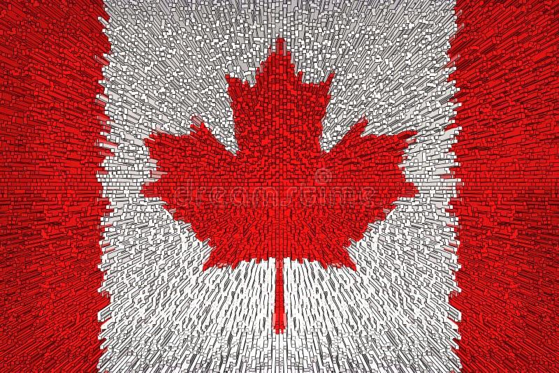 Fim bonito da bandeira de Canadá acima fotografia de stock royalty free